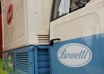 decorative truck wrap for brunetti coffee