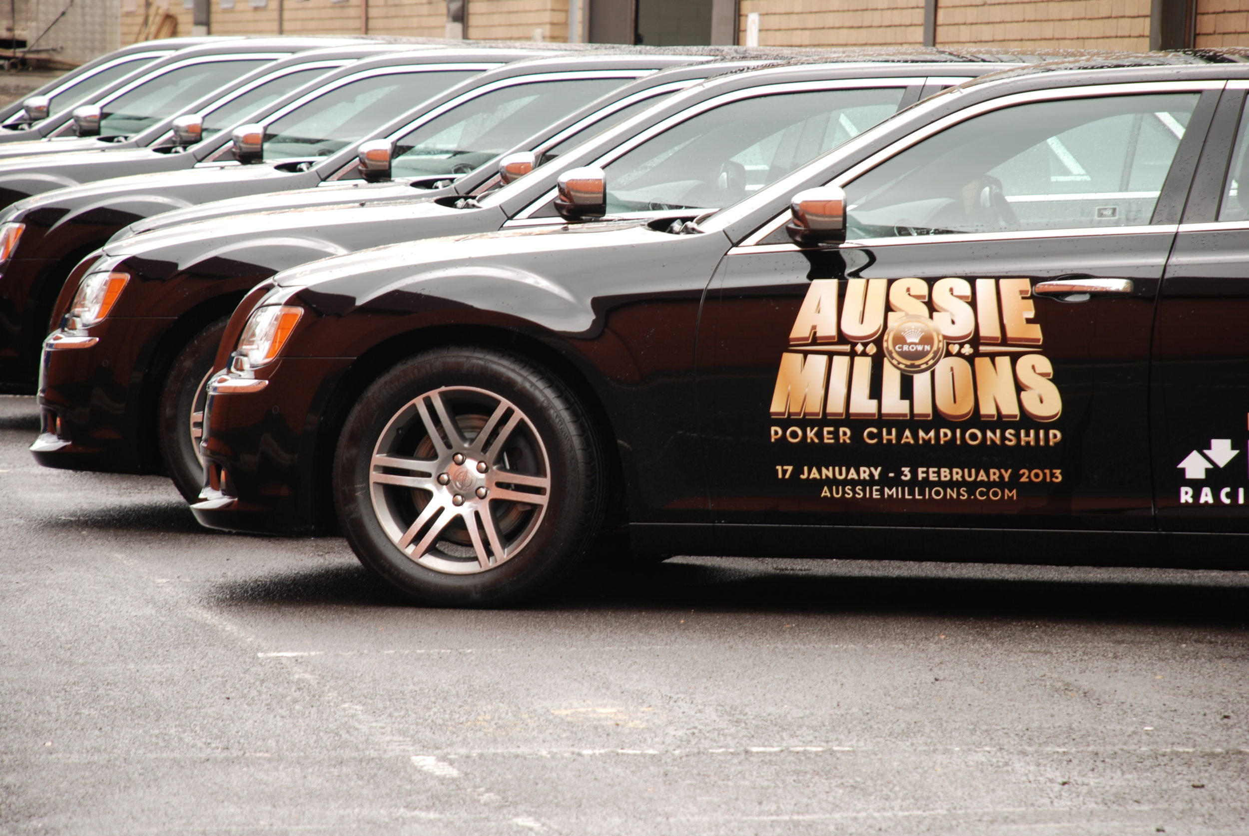 company fleed vehicle stickers for Crown Casino