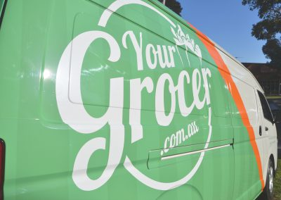vehicle wrap melbourne for your grocer green and orange