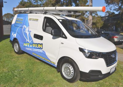 hit and run fishing wrap van