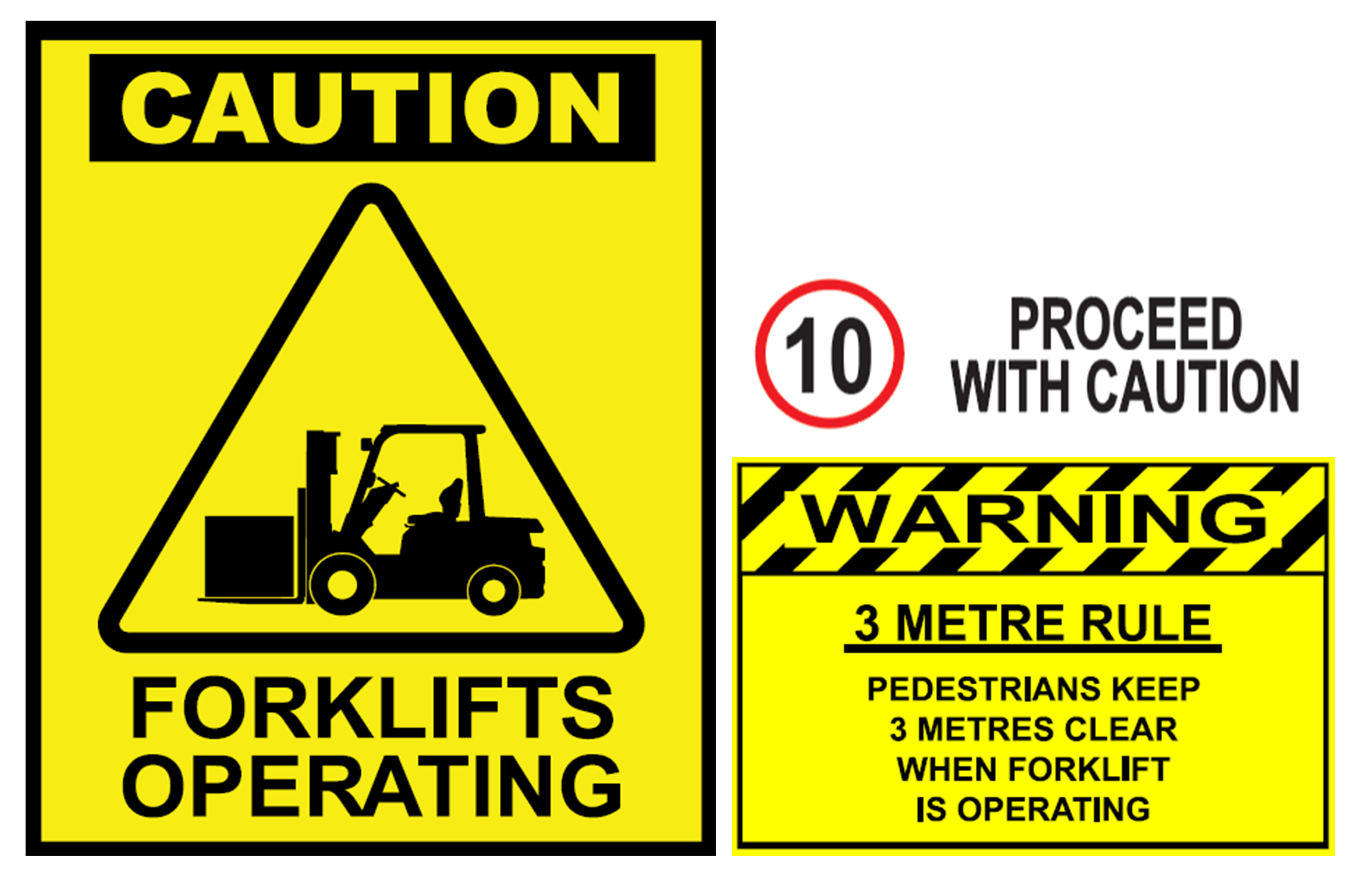 Forklift stickers