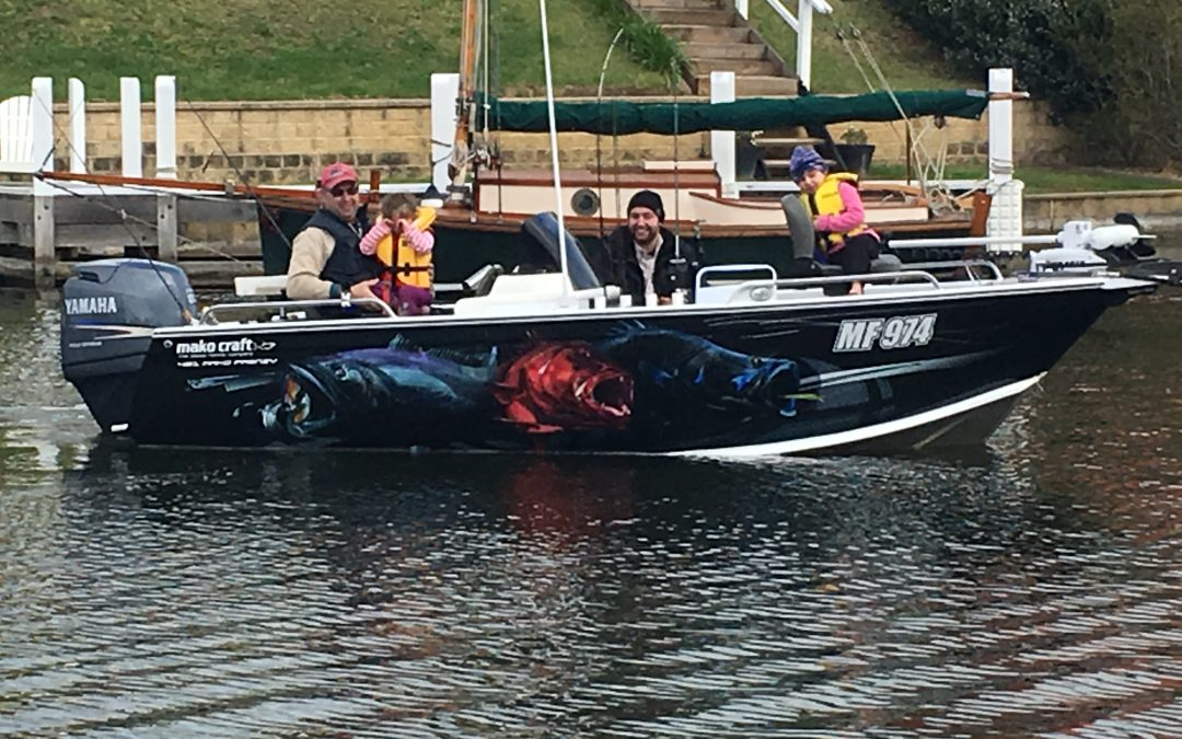 wrapped boat paynesville family fishing