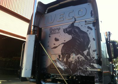raging bull iveco truck cab wrap