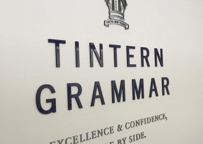 Tintern Grammar Acrylic Wall Sign