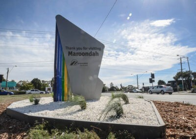 Pylon signs Melbourne manufactured and installed for Maroondah Council