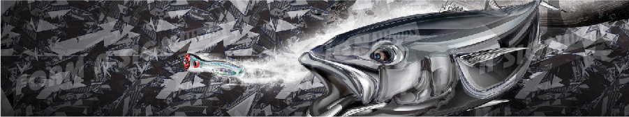 Carbon camo kingfish stock wrap design for vinyl boat wrap