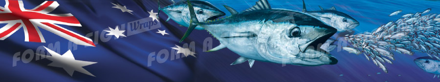 aussie southern bluefin stock wrap design for vinyl boat wrap