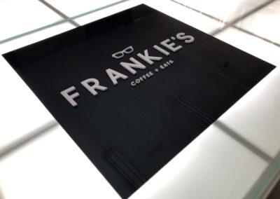 Frankies 3D sign