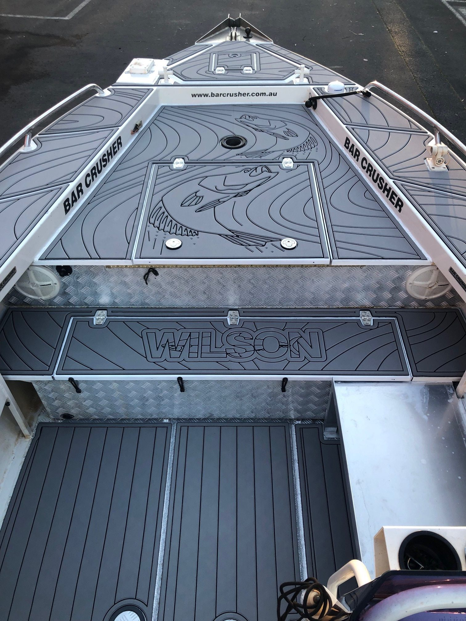 replace boat carpet with custom boat flooring
