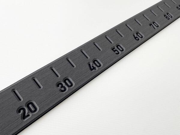 Steel Grey Large self adhesive Fish Measure