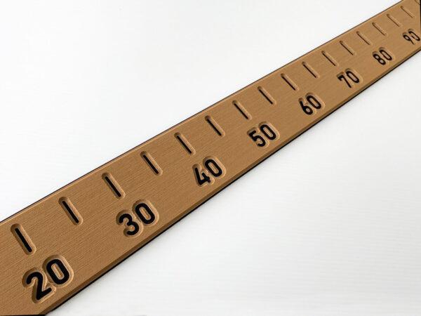 Teak Large self adhesive Fish Measure