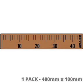 Teak Small non-slip Fish Measure