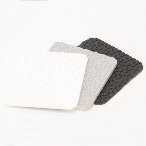 white light and winter grey z tread samples