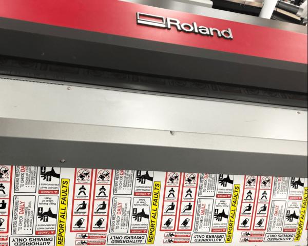 Printed forklift safety sticker kits