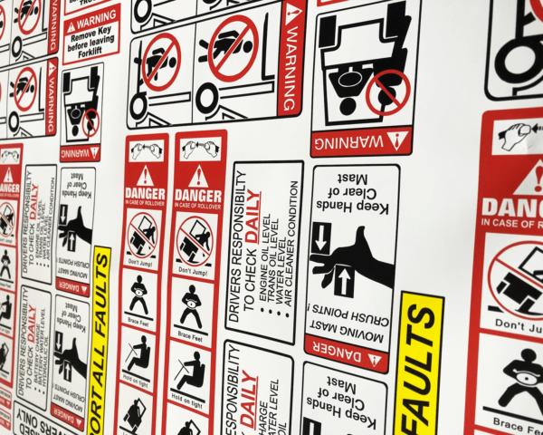 forklift safety sticker kit