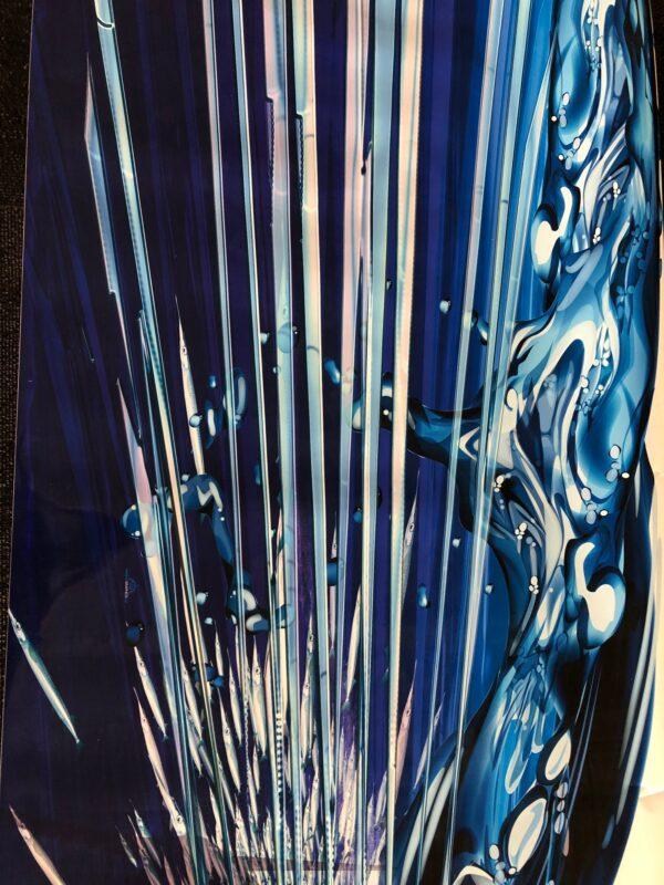 close up detail view of marlin half wrap