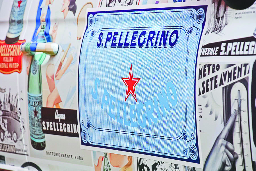 S.pellegrino close up detail of vehicle wrap