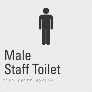 Male Staff Toilet Silver Braille Sign