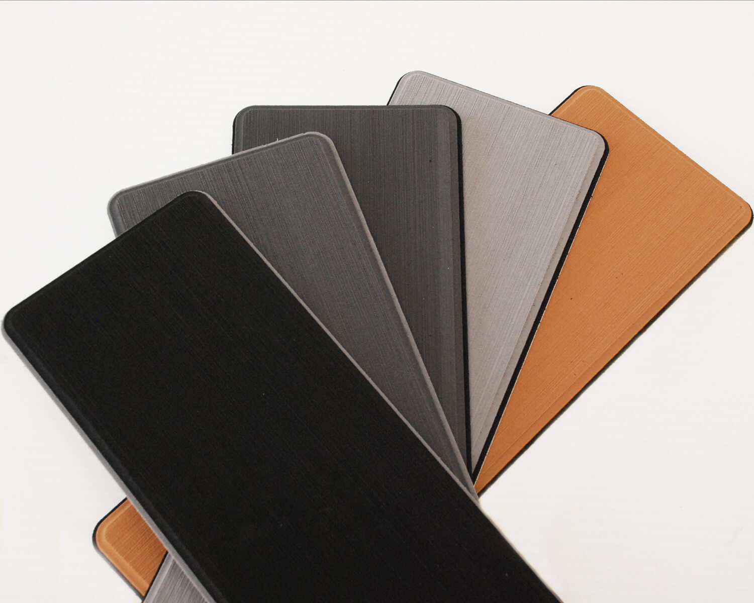 five different colours of EVA foam u-dek flooring