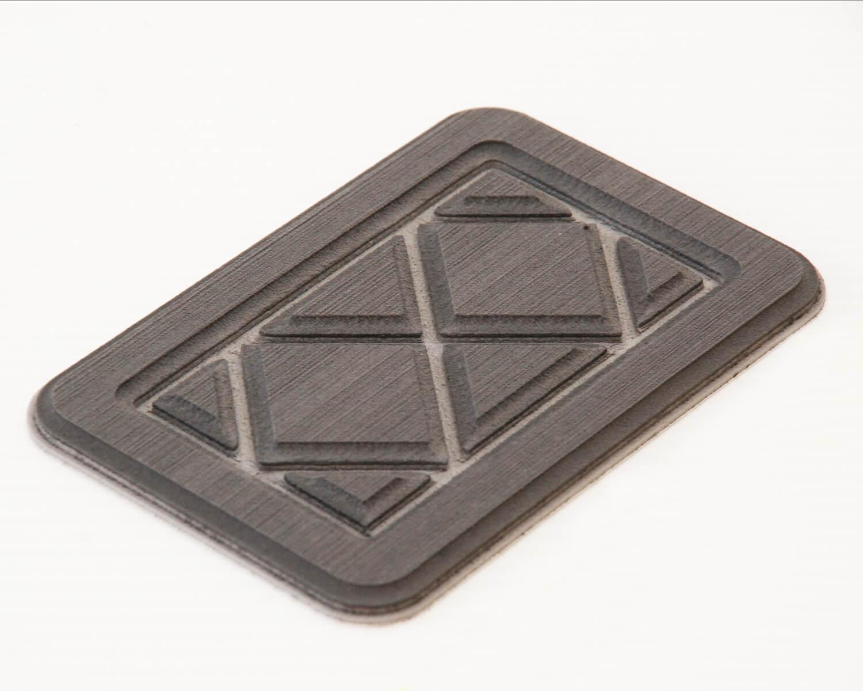 EVA foam Routered sample in Steel Grey on Winter Grey