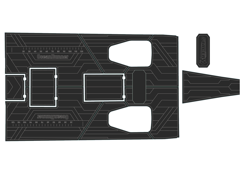 Stacer 639 Oceanrunner udek boat flooring