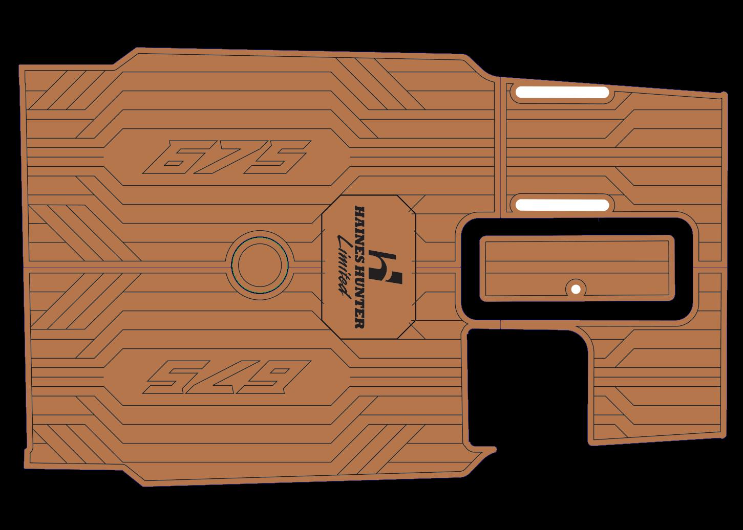 675 Offshore udek boat flooring