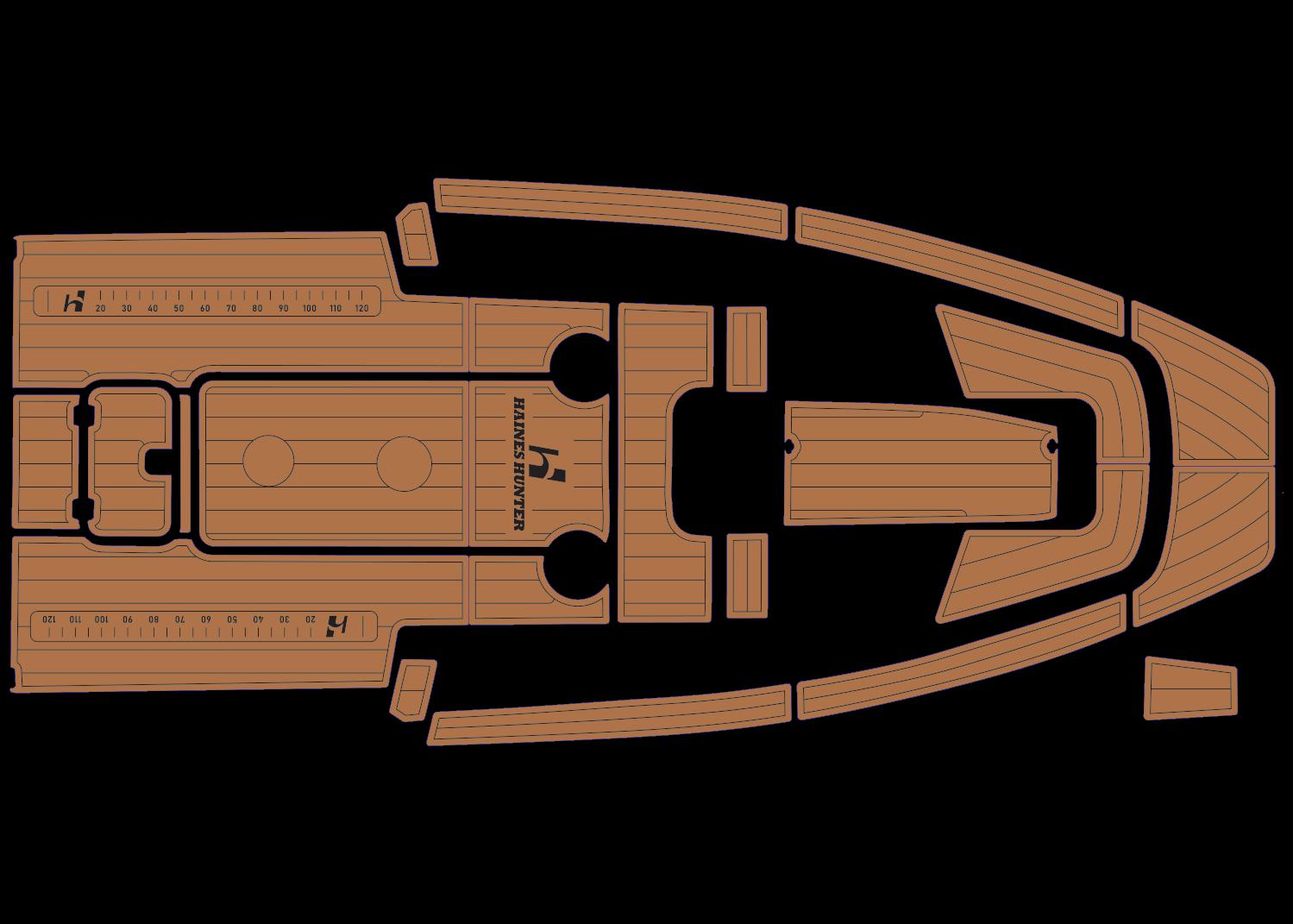 Haines Hunter 680 SF udek boat flooring