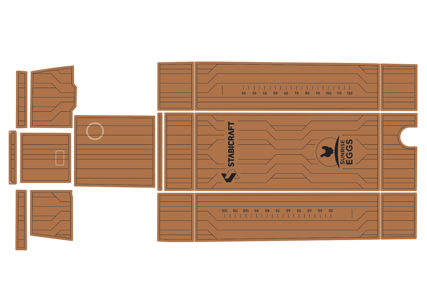 Stabicraft 2400 udek boat flooring