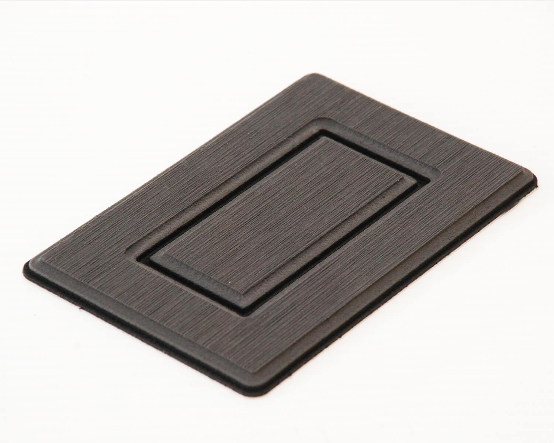 EVA foam Routered sample in Steel Grey and Black