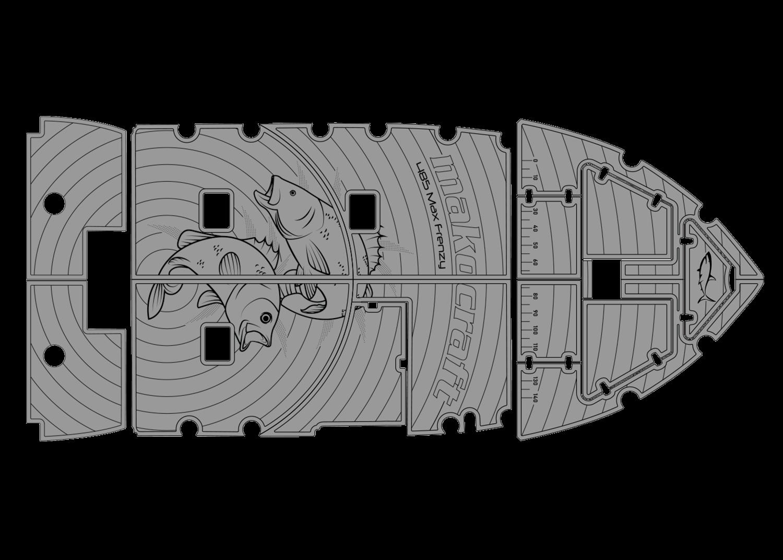 485 Max Frenzy udek custom boat floor